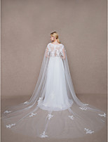Women's Wrap Capes Tulle Wedding Party/ Evening Applique