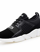 Men's Shoes Tulle Leatherette Spring Fall Comfort Sneakers Gore For Casual Black/Blue Black/White