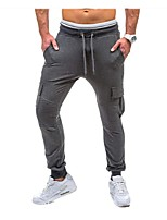 Men's Running Pants Breathable Comfortable Pants / Trousers for Running/Jogging Casual Exercise & Fitness Polyester Slim Black Dark Grey