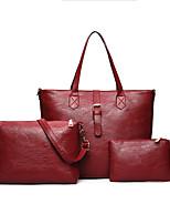 Donna Sacchetti Per tutte le stagioni PU (Poliuretano) sacchetto regola Cerniera per Casual Blu Nero Rosso Grigio