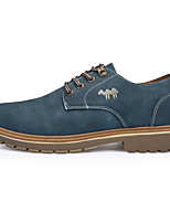 Men's Shoes PU Fall Winter Combat Boots Oxfords For Casual Outdoor Blue Brown
