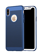Per iPhone X iPhone 8 iPhone 8 Plus Custodie cover Effetto ghiaccio Custodia posteriore Custodia Tinta unica Resistente PC per Apple