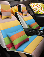 A Rainbow Cartoon Car Cushion Linen Cushion Seat Cover Seat Four Seasons General All Around Whole Linen -3#
