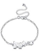 Women's Anklet/Bracelet Zircon Rhinestone Silver Plated Fashion Vintage Punk Personalized Hypoallergenic Star Geometric Irregular Jewelry