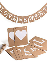 Card Paper Wedding Decorations-1 Piece Wedding Event/Party