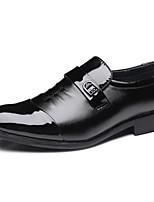 Herren Loafers & Slip-Ons Komfort formale Schuhe Herbst Winter Kunstleder Normal Kombination Flacher Absatz Niedriger Absatz Schwarz