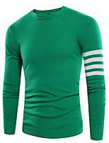 Herren Standard Pullover-Lässig/Alltäglich Einfarbig Rundhalsausschnitt Langarm Andere Frühling Winter Mittel Mikro-elastisch