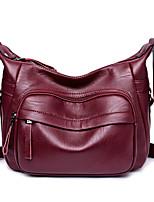 Women Bags All Seasons PU Shoulder Bag Pockets Zipper for Casual Office & Career Blue Black Purple Wine