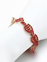 Women's Chain Bracelet Rhinestone Fashion Rhinestone Alloy Jewelry For Wedding Daily
