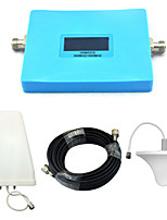 Intelligent Display Mobile Phone 2G 4G Signal Booster GSM 900mhz DCS 1800mhz 4G Signal Repeater with Ceiling Antenna / Log Periodic Antenna / Blue