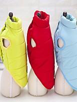 Cane Cappottini Abbigliamento per cani Tenere al caldo Tinta unita Giallo Rosso Blu