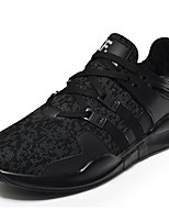 Men's Shoes Tulle Spring Fall Comfort Athletic Shoes Lace-up For Casual Black/White Black White