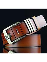 Men's Alloy Waist Belt,Pattern Solid Cut Out Retro