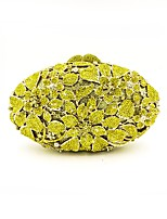 Women Bags All Seasons Metal Evening Bag Beading Crystal Detailing for Wedding Event/Party Gold