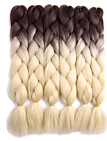 Jumbo Hair Braid Crochet Ombre Braiding Hair 100% Kanekalon Hair Grey Black/Green Black/Blue Black/Red Medium Brown 24