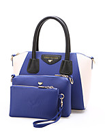 Women Bags All Seasons PU Bag Set with Zipper for Casual Office & Career Blue Black Yellow Brown