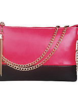 Women Bags All Seasons Cowhide Shoulder Bag Zipper for Event/Party Fuchsia Brown Wine