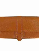 Women Bags All Seasons Cowhide Wallet Buttons for Casual Camel