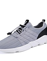 Men's Shoes PU Tulle Spring Fall Comfort Athletic Shoes Running Shoes Lace-up For Athletic Outdoor Light Grey Black White