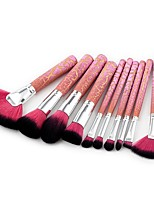 10PCS Contour Brush Makeup Brush Set Blush Brush Eyeshadow Brush Lip Brush Brow Brush Concealer Brush Fan Brush Powder Brush Foundation