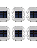 6PCS Solar 6-LED Outdoor Road Driveway Dock Path Ground Light For Garden Night Lamp  Waterproof