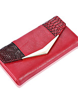 Women Bags All Seasons PU Clutch for Shopping Casual Red Beige Gray Coffee Red black