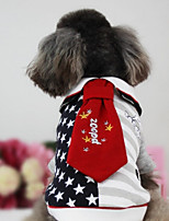 Hund Weste Hundekleidung Lässig/Alltäglich Sterne Schwarz Rot