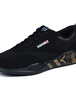 Men's Shoes Tulle Spring Fall Comfort Athletic Shoes Walking Shoes Lace-up For Casual Black/Red Black/White Black/Gold