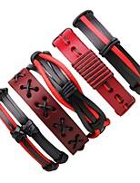 Homme Femme Bracelets Bracelets en cuir Bohême Fait à la main Cuir Forme Ronde Bijoux Pour Sortie