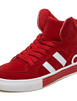 Women's Shoes PU Fall Winter Comfort Sneakers For Casual Outdoor Red Black