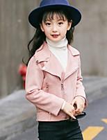 Девочки Куртка / пальто Полиэстер Вышивка Осень Зима Длинный рукав