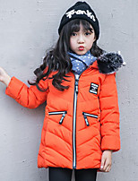 Girls' Patchwork Down & Cotton Padded,Polyester Fall Winter Long Sleeve
