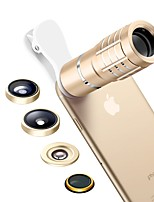 SENBOWE Smartphone Camera Lenses 0.36X Wide Angle Lens 15X Macro Lens 10X Telescope Lens Fish-eye Lens CPL for ipad iphone Huawei xiaomi samsung