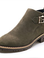 Women's Shoes Suede Fall Winter Fashion Boots Bootie Boots Booties/Ankle Boots For Casual Outdoor Green Brown Black
