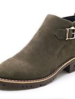 Femme Chaussures Daim Automne Hiver Bottes à la Mode Botillons Bottes Bottine/Demi Botte Pour Décontracté Noir Marron Vert