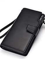 Men Bags All Seasons PU Clutch Zipper for Shopping Formal Black Coffee