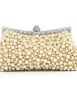 Women Bags All Seasons PC Evening Bag Beading for Wedding Event/Party White Black Beige