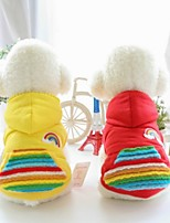 Dog Vest Dog Clothes Casual/Daily Geometic Red Yellow