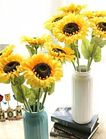 1 Piece 1 Branch Polyester Sunflowers Tabletop Flower Artificial Flowers