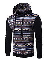 Men's Sports Going out Simple Hoodie Solid Print Hooded Micro-elastic Cotton Others Long Sleeve Spring Fall