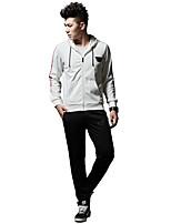 Taglie forti Activewear Set Da uomo Sport Corsa Tinta unita A strisce Media elasticità Poliestere Manica lunga Primavera Autunno