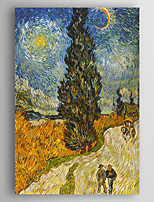 Hand-Painted Landscape Vertical,New Arrival One Panel Canvas Oil Painting For Home Decoration