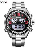 SINOBI Herrn Sportuhr Armbanduhr Armbanduhren für den Alltag Japanisch digital LED Kalender Duale Zeitzonen Nachts leuchtend