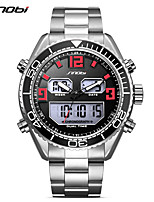 SINOBI Per uomo Orologio sportivo Orologio casual Orologio da polso Giapponese Digitale LED Calendario Due fusi orari Nottilucente