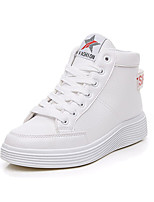 Women's Shoes Leatherette Spring Fall Comfort Sneakers Platform Round Toe For Casual White