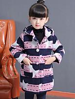 Girls' Print Suit & Blazer,Polyester Fall Winter Long Sleeve