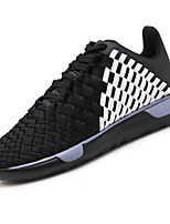 Men's Shoes PU Spring Fall Comfort Light Soles Athletic Shoes Lace-up For Athletic Casual Black/Red Black/White