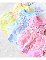 Dog Vest Dog Clothes Casual/Daily Solid White Yellow Blue Blushing Pink