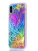 Para iPhone X iPhone 8 iPhone 8 Plus Case Tampa Galvanizado Capa Traseira Capinha Flor Macia PUT para Apple iPhone X iPhone 8 Plus iPhone