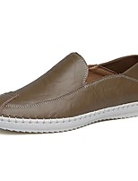 Men's Shoes PU Spring Summer Moccasin Loafers & Slip-Ons For Casual Light Brown Coffee Dark Blue Black White